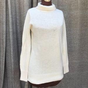 Zara white sweater turtleneck